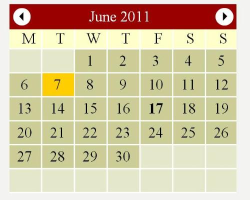 Windows 7 Flash Web Calendar by StivaSoft 5.1 full